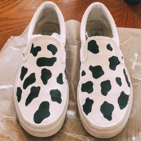 Vans Shoes | Painted White Vans | Poshmark